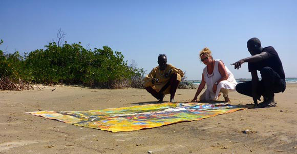 Moussa, Ulrike and Zulu at Sangomaar